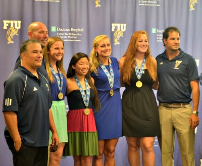 FIU sports women's Swimming and Diving graduates