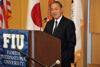 Japanese ambassador addresses students during FIU visit