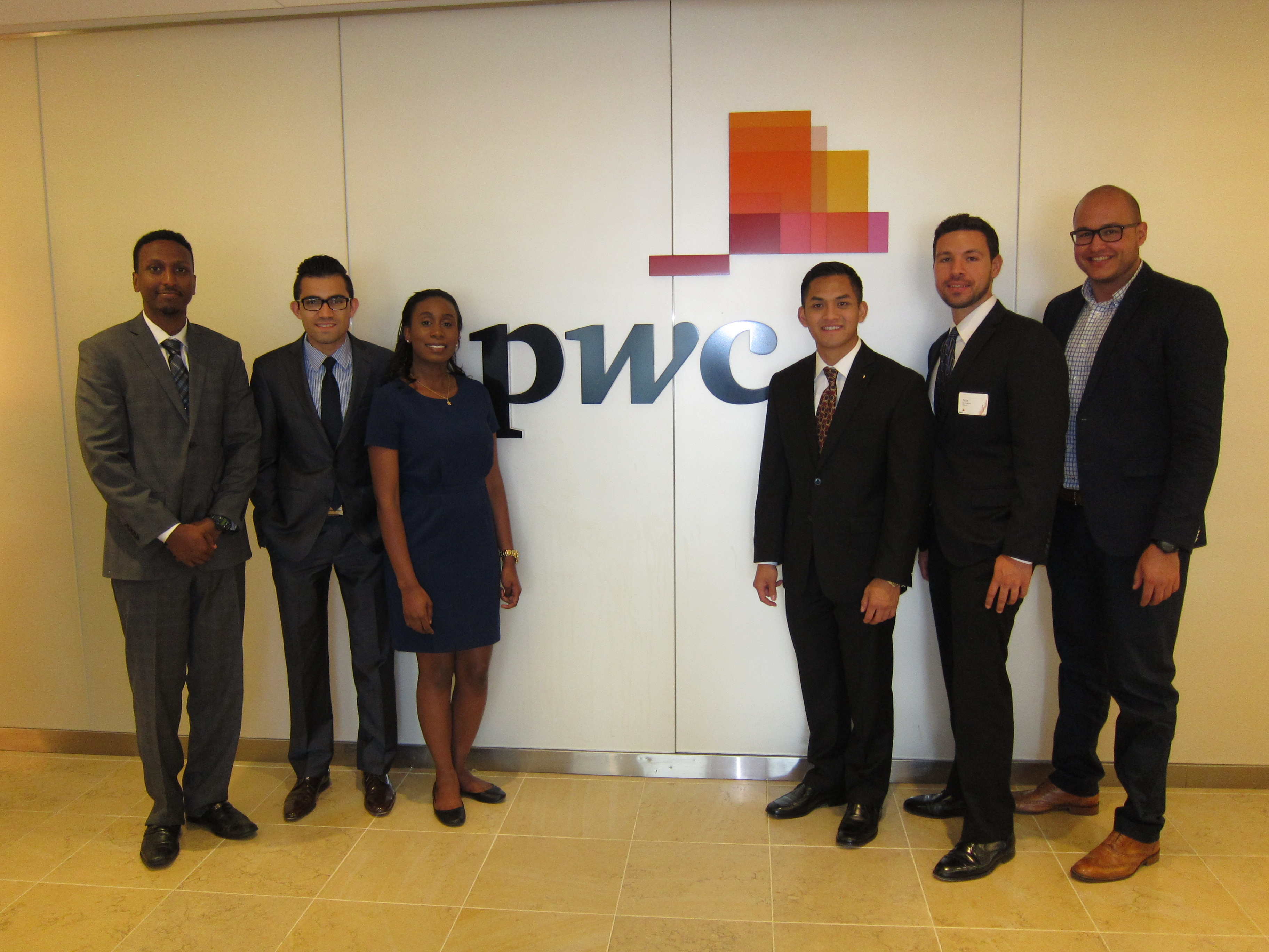 School of Accounting student interns at PricewaterhouseCoopers