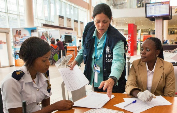 Dr. Marty in airport in Nigeria