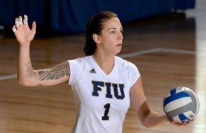 Katie Hogan had a career-high 19 kills in FIU indoor volleyball's win over Marshall on Oct. 2