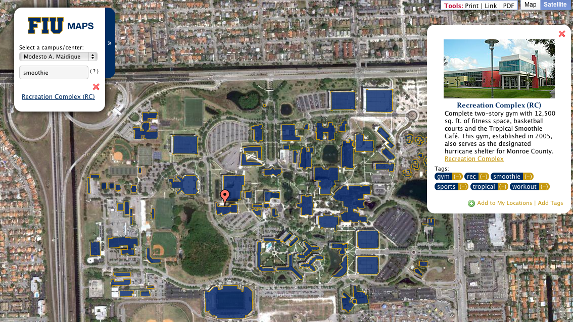 Fiu Campus Map Tag new campus maps Fiu Campus Map