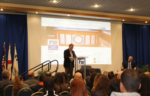 Marty Baron, executive editor of The Washington Post, speaks at FIU