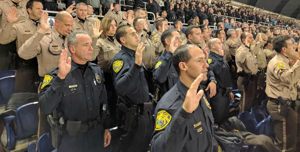 Six members of FIUPD are sworn to service in Washington, D.C., alongside thousands of other officers for today's Presidential inauguration.