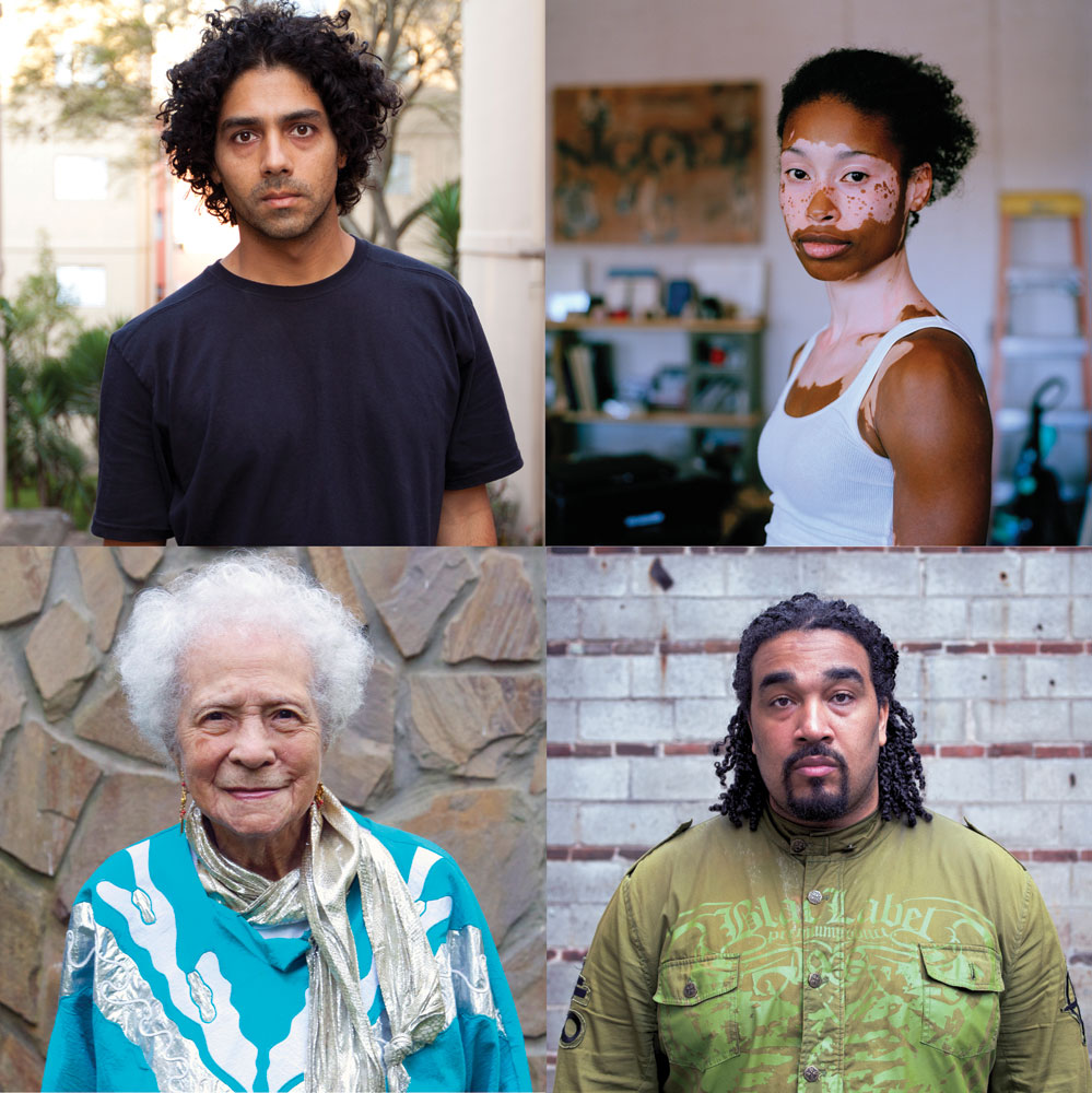 Some of the many faces of (1)ne Drop: Shifting the Lens on Race. Photos by Noelle Theard MA '10.