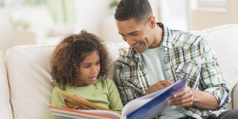 Father-reading-to-child