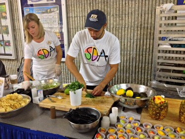 Student Dietetic Association members prepare a food demonstration as part of Food Day on Oct. 24.