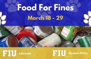 Want to settle your library debt? Donate to the student food pantry