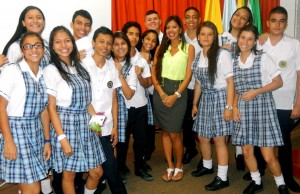 Sheffield was invited to speak at a bilingual forum for high school students and teachers.