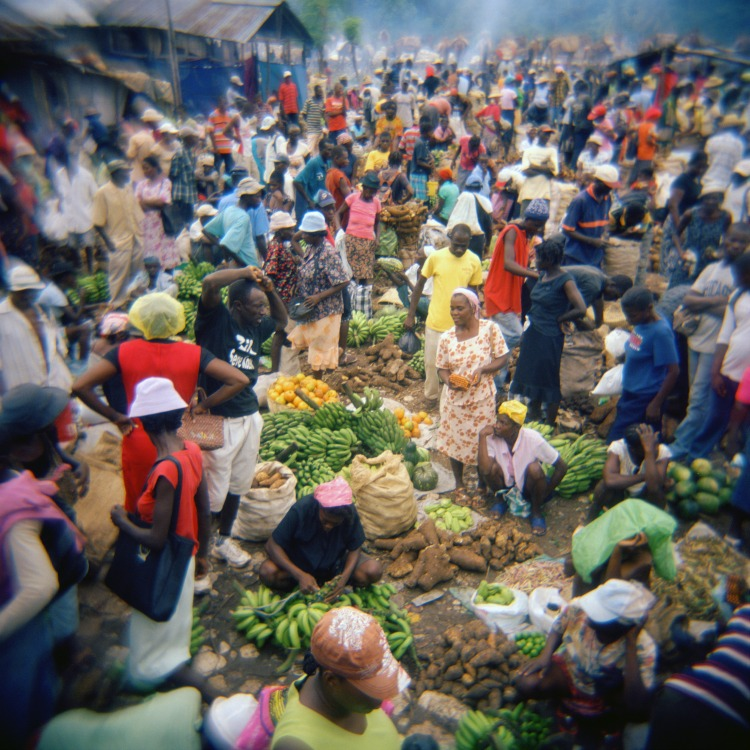 This image of a market was taken by a Haitian photographer as part of Fotokonbit, a program that empowers local citizens by giving them instruction in use of cameras