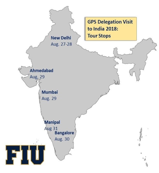 FIU's GPS points due East to India