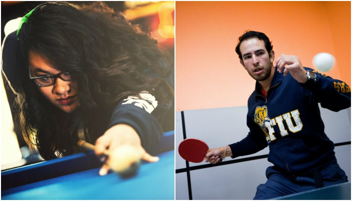 Game Room regulars represent FIU nationally in billiards, table tennis