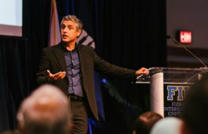 Reza Aslan visited FIU to discuss way to confront Islamophobia.