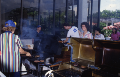 DiStefano was known for her kindness towards students, giving free hamburgers to those who didn't have enough money to pay for them. Photo courtesy of the FIU Special Collections & University Archives.