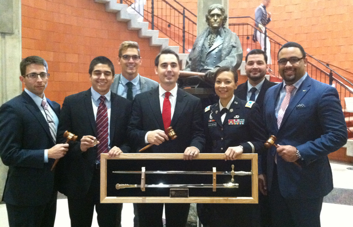 The FIU Model UN team at the 2014 West Point Security Conference..