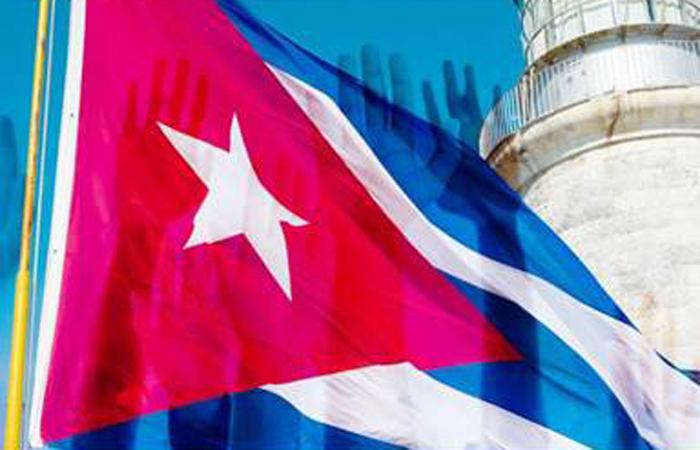 Cuba flag crop