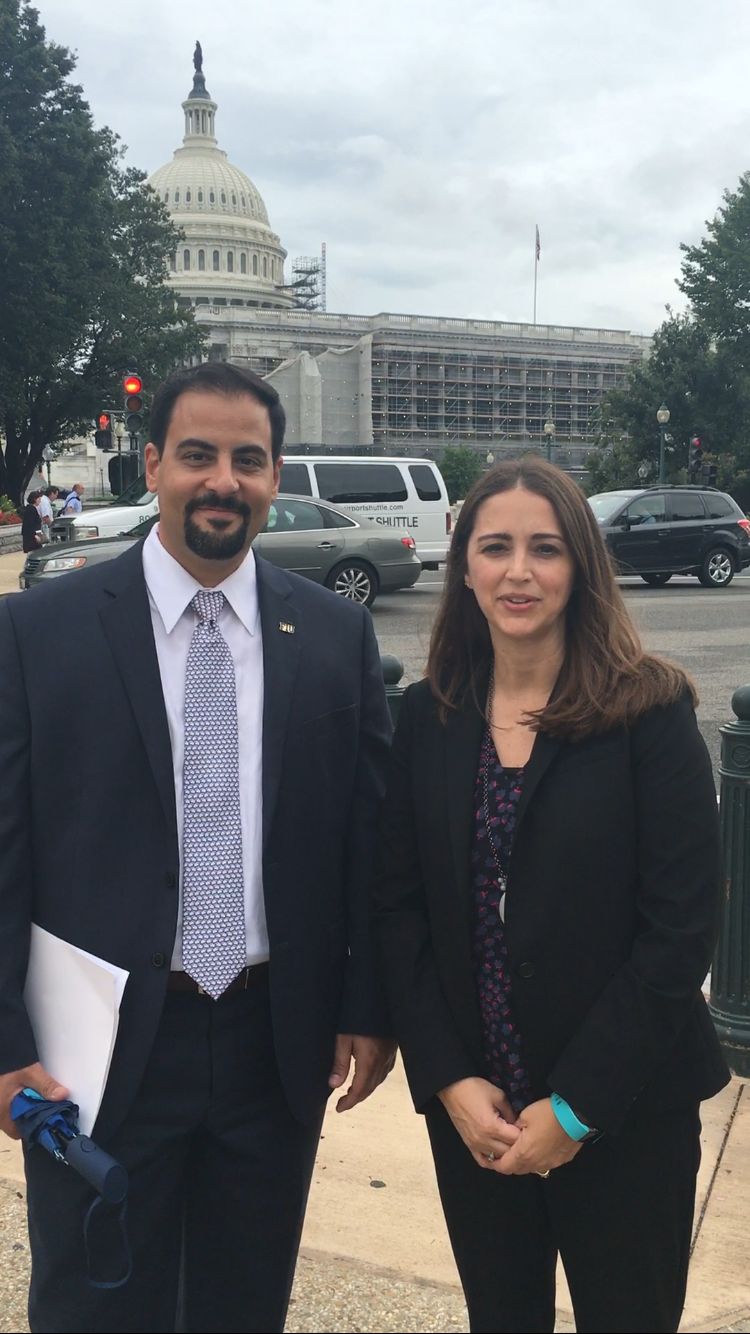 FIU Drs. Raul Gonzalez and Angie Laird reflect on their day on Capitol Hill advocating for the ABCD study.