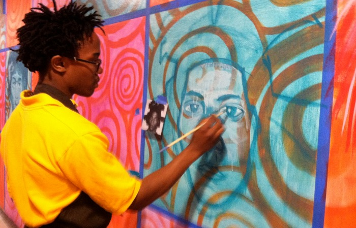 Education Effect partnership helps propel student art gallery, mural at Miami Northwestern