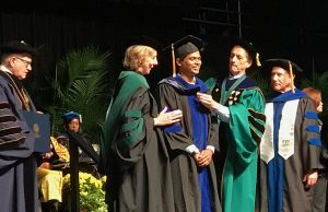 College of Medicine awards two Ph.D.s in biomedical sciences