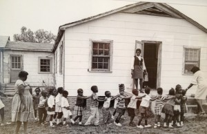 "A Mississippi ""freedom school"" – one of more than 40 alternative schools for African-Americans developed during Freedom Summer."