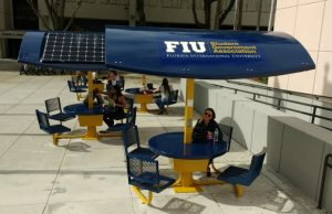 Going green with new solar tables near Graham Center