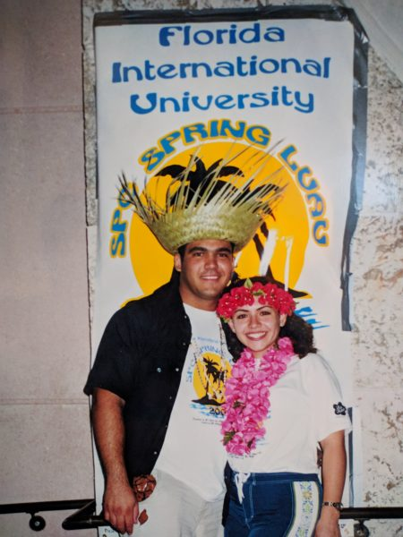 Rene Formoso and Judy Formoso led the 2001 Spring Luau event at FIU.