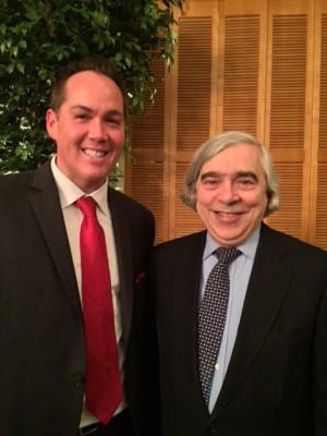 Brian Fonseca with United States Secretary of Energy, Dr. Ernest Moniz.