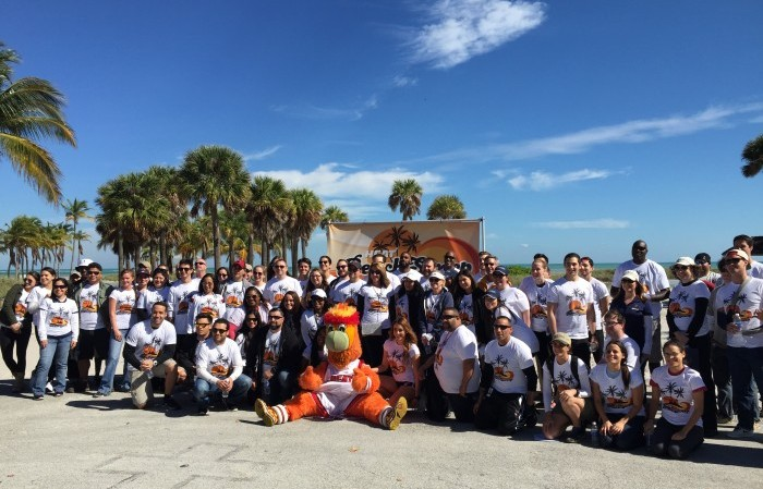 Nearly 120 volunteers from Miami-Dade County participated in the Miami Heat's 7th annual Heat Beach Sweep in partnership with FIU's School of Environment, Arts and Society.