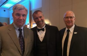 U.S. Sen. Sheldon Whitehouse from Rhode Island met with FIU's Mike Heithaus and James Fourqurean during the 17th Annual Ocean Awards Gala at Capitol Hill Oceans Week in Washington D.C.
