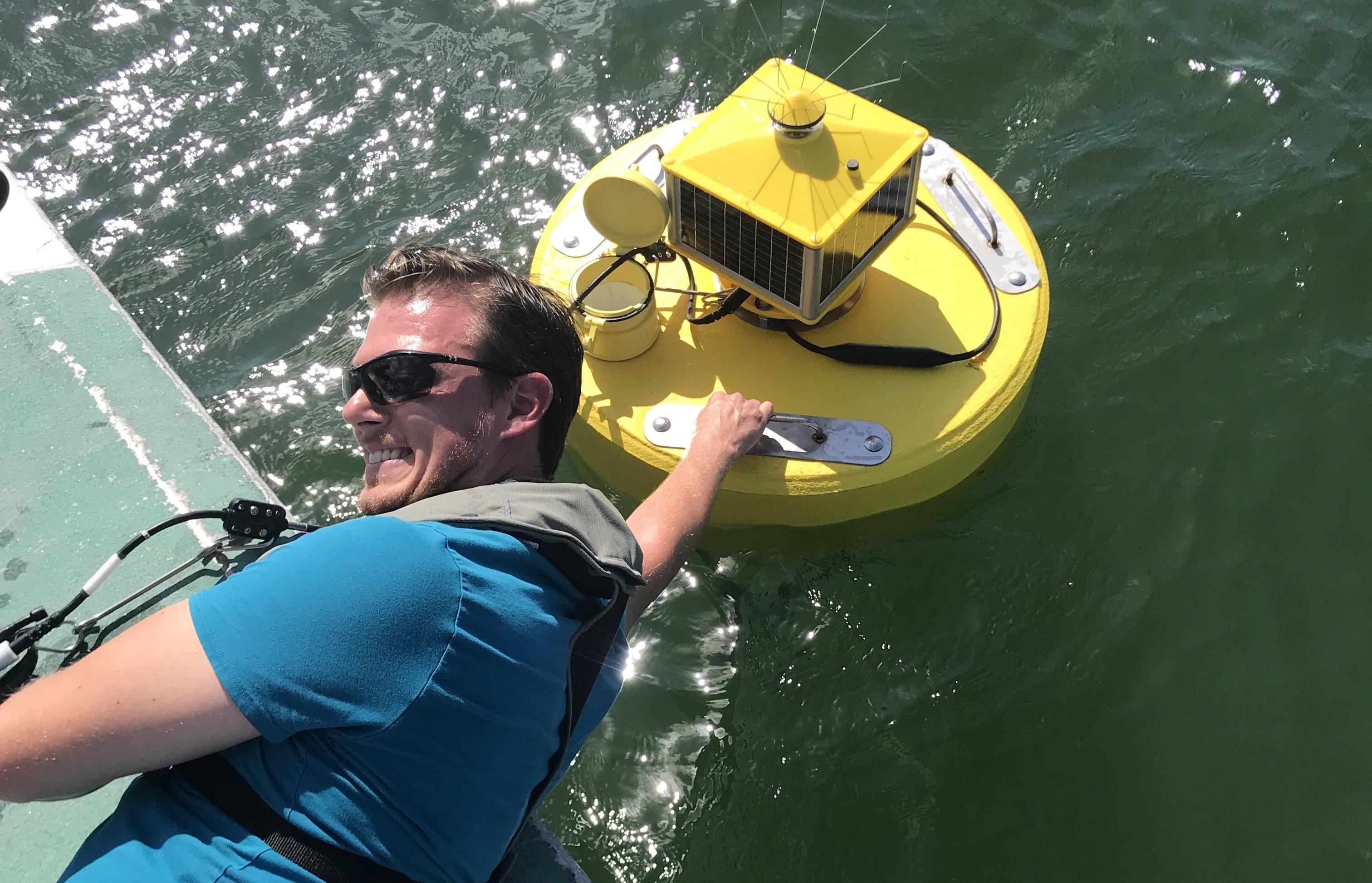 Monitoring buoy deployed to test water quality near Haulover Inlet
