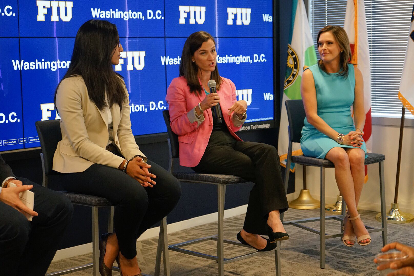Arelis Hernandez, Lauren Kane and Mercedes Schlapp as panelists on Media & Communications: An Inside Look