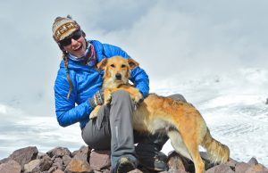 FIU biologist Kelsey Reider adopted her dog, Karina, in the high Andes Mountains in Peru.