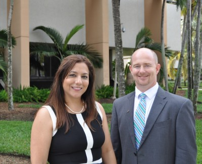Georgina Koch, lead teacher and program administrator at MAST @ FIU and Eric Arneson, assistant vice president of student affairs at FIU