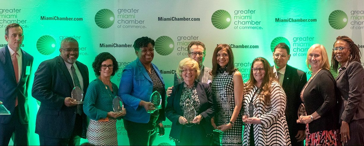 Eyran Kraus (third from right) was inducted into the GMCC's inaugural HR Ring of Honor.