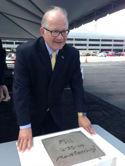 FIU President Mark B. Rosenberg at the opening of FIU at I-75.