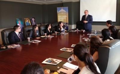 President Rosenberg with DC Summer Interns