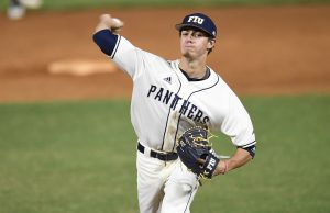 Pitcher Nick MacDonald will be a key part of the FIU starting rotation after leading the team in wins as a freshman in 2017. Photo courtesy of FIU Athletics.