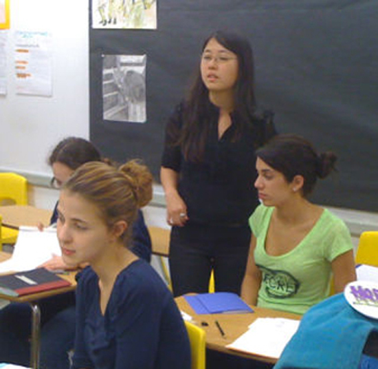 Calabretta taught poetry to 11th and 12th-graders at DASH.