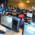 The-state-of-the-art Mastery Math Lab in the Green Library.
