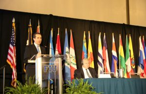 Dr. Jorge Familiar Calderon, Regional Vice President, Latin America and Caribbean Region, World Bank, speaks at the 24th Inter-American Conference of Mayors and Local Authorities hosted by FIU.