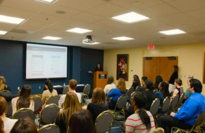 Students presented their research to a group of peers and faculty at the 2014 McNair Conference.