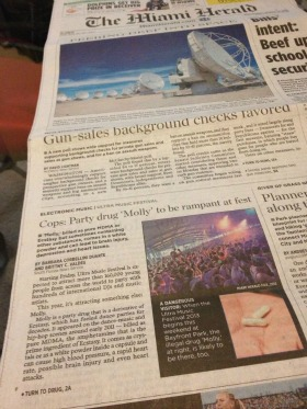 Students' investigative piece makes front page of Miami Herald