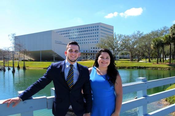 SGA-MMC President Alian Collazo and Vice President Michelle Juarez