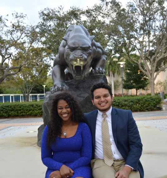 SGA-BBC Vice President Michema Lafontant and President Allhan Mejia