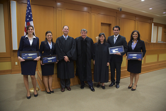 Krystin Montersil and Stephanie D'Angelo win 2015 Moot Court Competition
