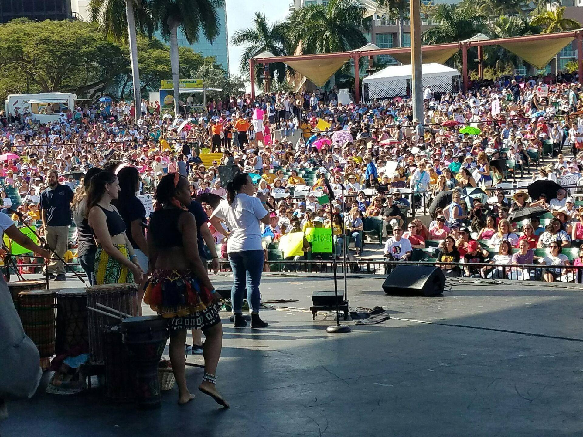 Women's Rally in South Florida, Downtown Miami.