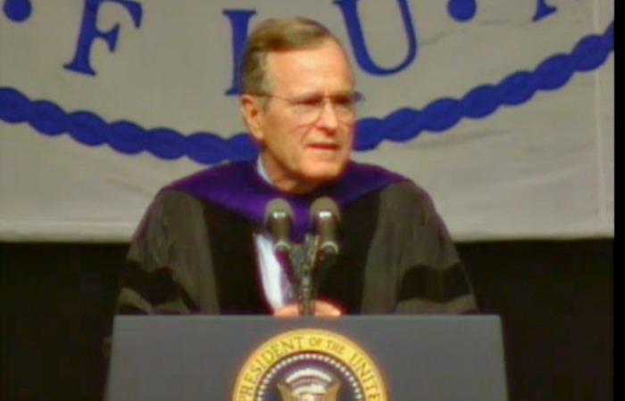 50@50: President George H.W. Bush speaks to graduates at FIU