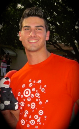 Jonathan Ricci at Nation Night Out Hollywood community event during his internship at Target.