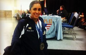 Natalia Garcia won a silver medal at the 2015 National Championships for karate.
