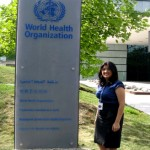 Neha Upadhyay at WHO's headquarters in Geneva, Switzerland.